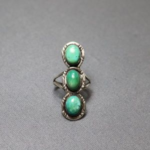 vintage 925 turquoise Native American navajo ring